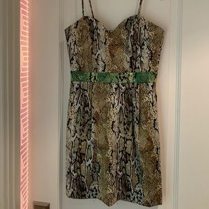 Revolve Naven snakeskin print sweetheart dress